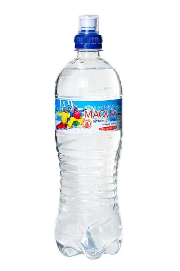 """Вода питьевая негазированная со спорт-колпачком """"MAQUA"""" 0,75л"""