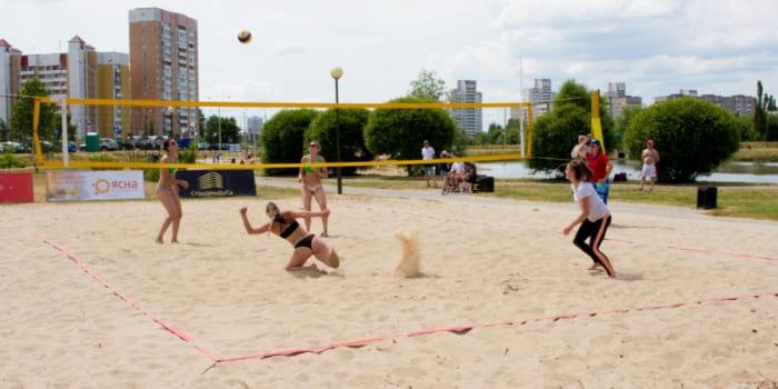 В Гомеле прошёл первый тур чемпионата страны по пляжному волейболу