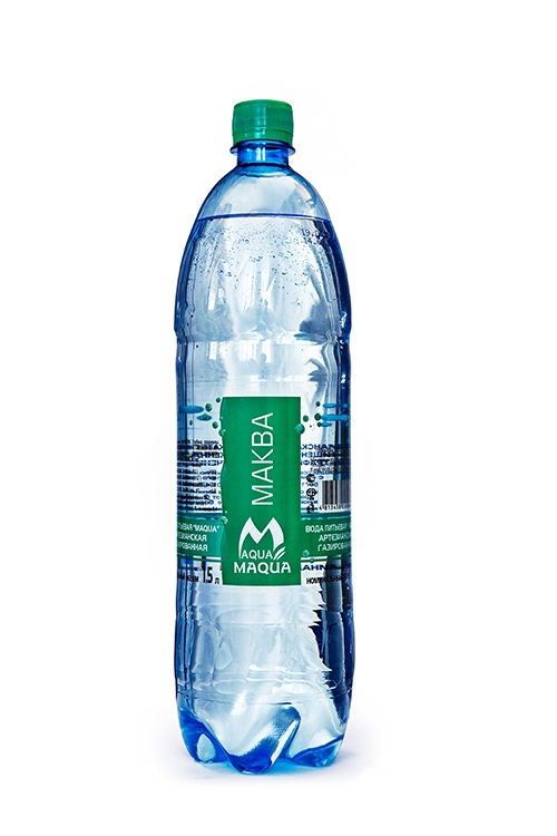 """Вода питьевая газированная """"MAQUA"""" 1л"""
