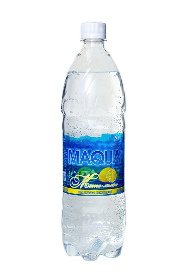 """Вода газированная """"Maqua"""" Мята-лимон 1л"""