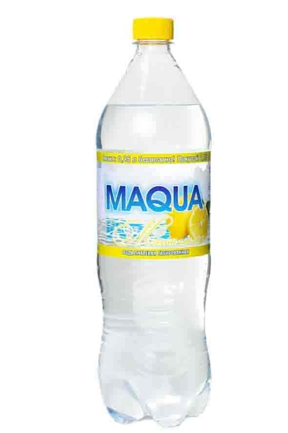 """Вода газированная """"Maqua"""" Мята-лимон 1,25 л"""