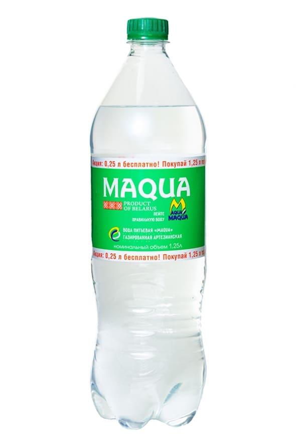 """Вода питьевая газированная """"Maqua"""" 1,25 л."""