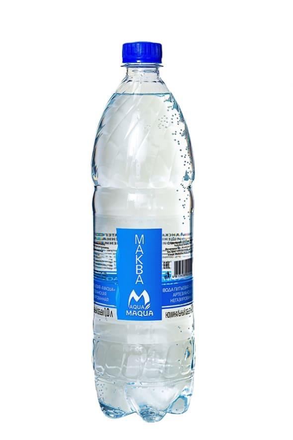 """Вода питьевая негазированная """"MAQUA"""" 1л"""