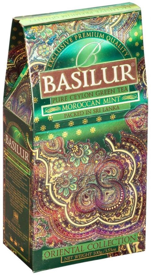 Basilur Moroccan Mint зеленый листовой чай, 100 г