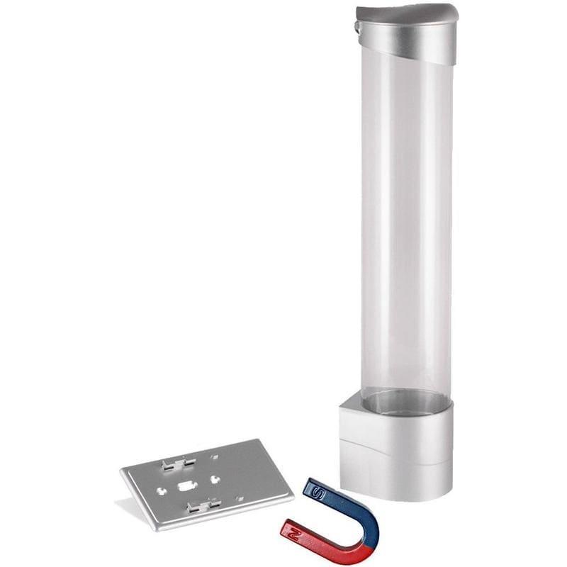 Держатель стаканов для кулера на магните серебристый